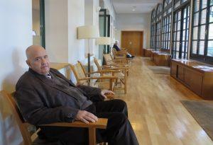2 El poeta Carlos Nejar en la residencia de Estudiantes de Madrid (Foto de J. Alencar)