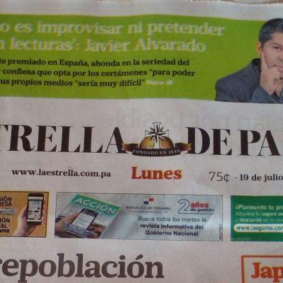 La prensa panameña lleva a primera página al ganador del II Premio Rey David